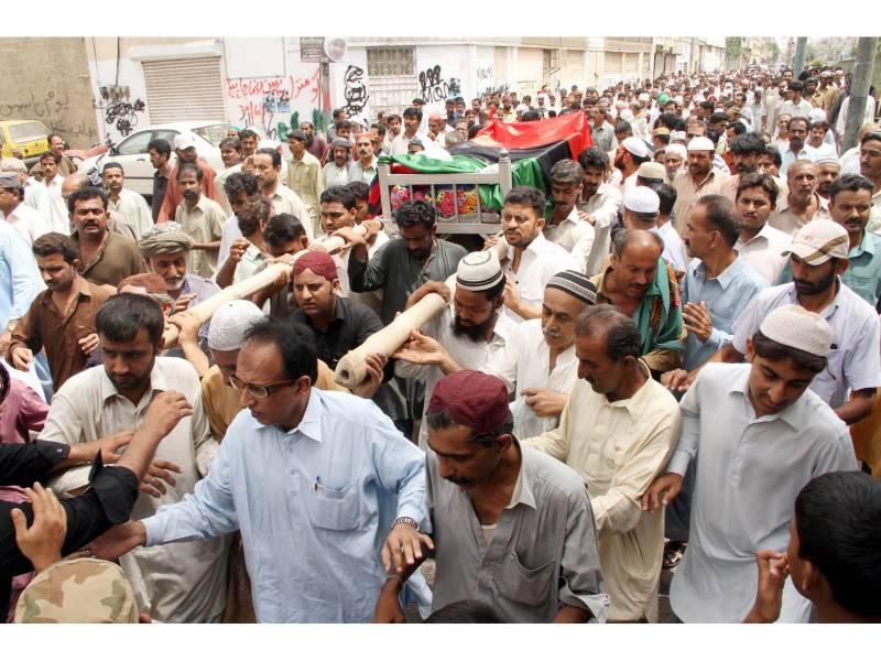آصف علی زرداری کے چیف سیکورٹی گارڈ بلال شیخ کے جنازے کی تصاویر