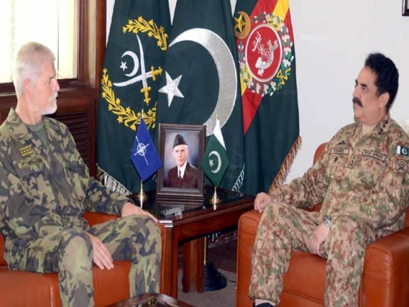 جنرل راحیل سے ملاقات، پاک فوج کا کردار قابل تعریف ہے: سربراہ نیٹو ملٹری کمیٹی