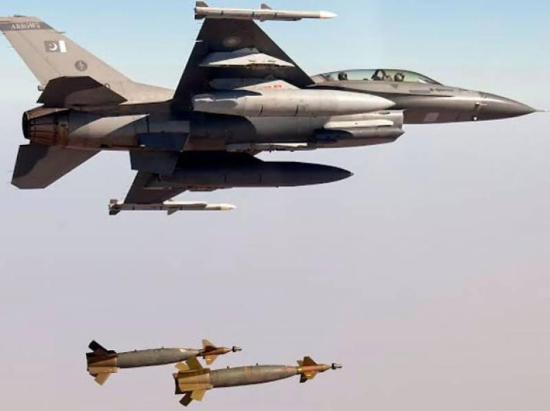 خیبر ایجنسی:' جیٹ طیاروں کی بمباری، 6 دہشت گرد ہلاک، 10 ٹھکانے تباہ