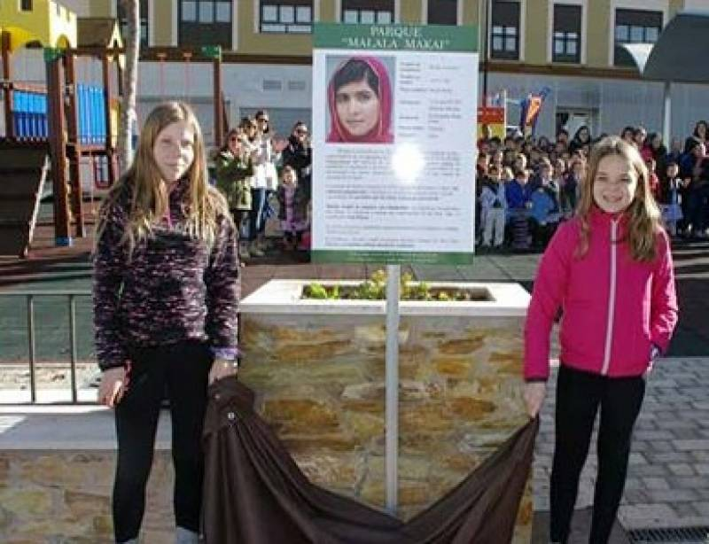سپین کا پارک ملالہ یوسفزئی سے منسوب