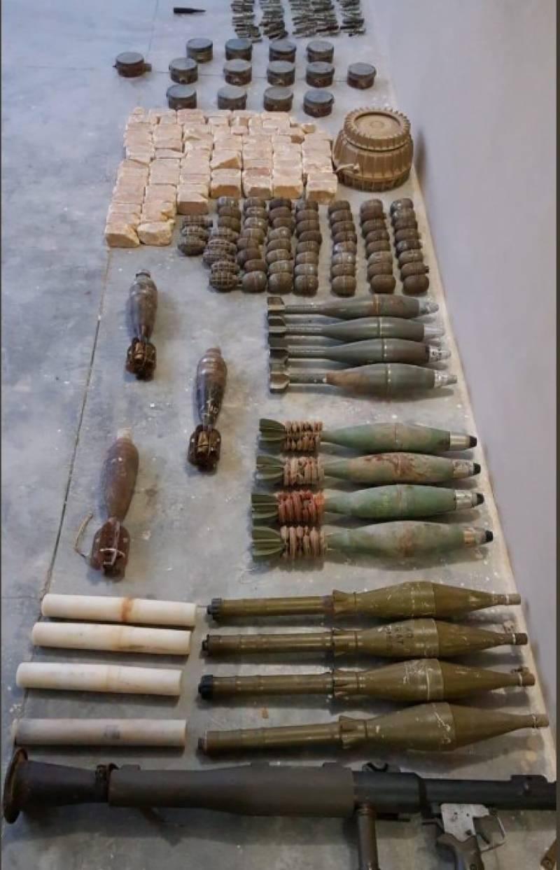 آپریشن ردالفساد:بلوچستان میں سیکیورٹی فورسز کی کارروائی،بھاری مقدار میں گولہ بارود برآمد