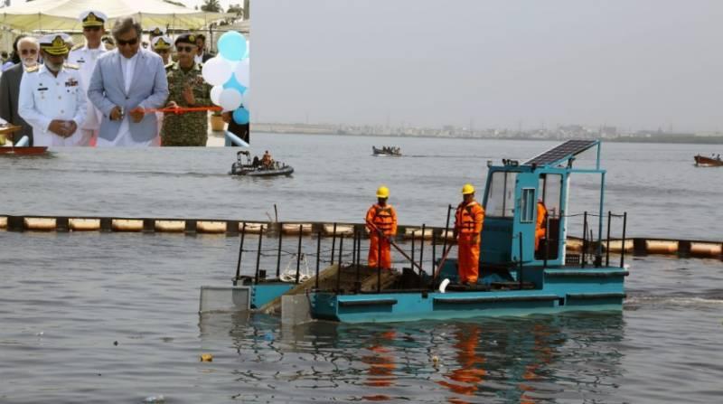 سمندری آلودگی کی روک تھام کے لئے پاک بحریہ کی ڈیبرس کلیکشن بارج کی تعمیر اور بحری بیڑے میں شمولیت قابل ستائش:علی حیدر زیدی