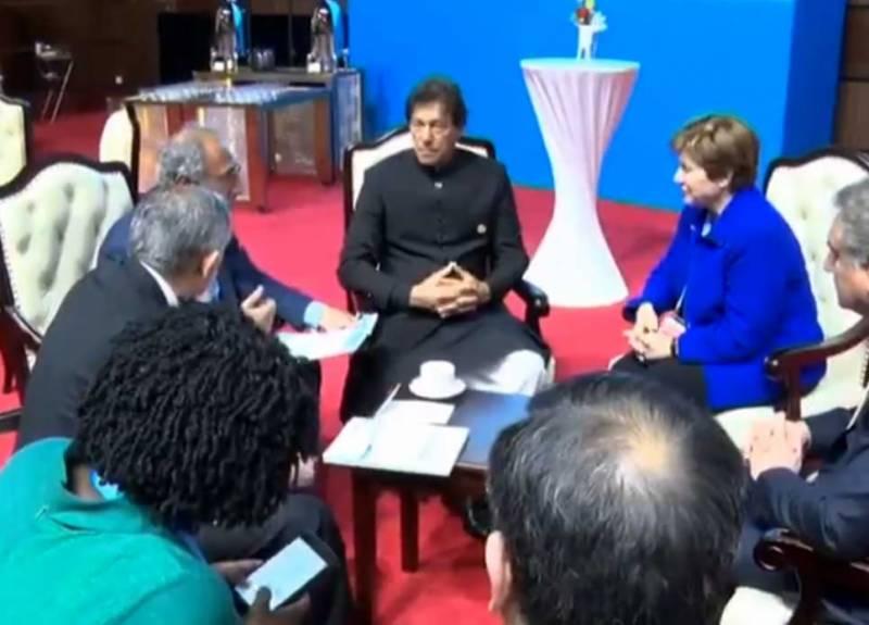 بیجنگ: وزیراعظم اور عالمی بینک کی سی ای او کے درمیان ملاقات،اقتصادی پروگرام پر تبادلہ خیال