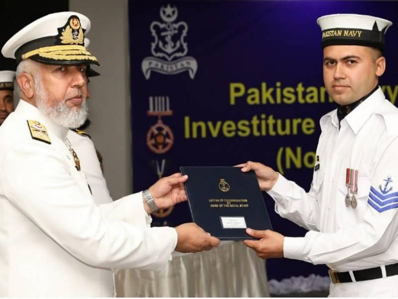 پاک بحریہ کے آفیسرز ، سی پی اوز اور جوانوں کو عسکری ایوارڈز کی تفویض