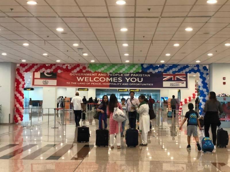برٹش ایئر ویز کی 11سال بعد پاکستان واپسی،پہلی پروازاسلام آبادآگئی