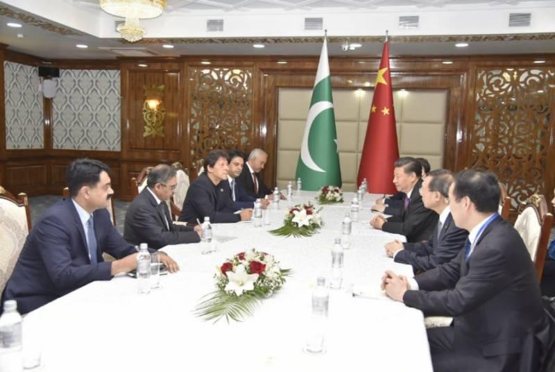 وزیراعظم عمران خان اور چین کے صدر شی چن پنگ کے درمیان ملاقات