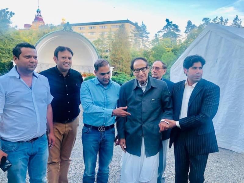 سابق وفاقی وزیر عابد شیر علی کی جرمنی میں چوہدری شجاعت حسین کی عیادت