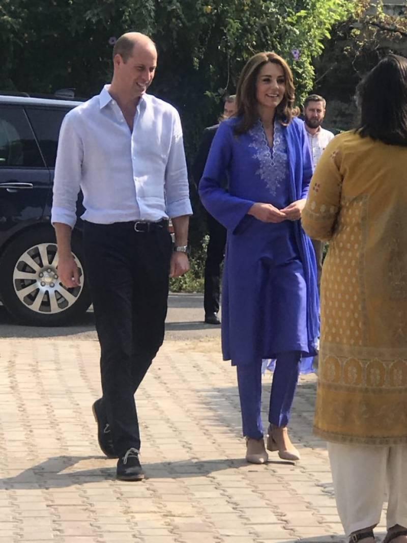 برطانوی شاہی جوڑے کا گرلز ہائی سکول اسلام آباد کا دورہ، مختلف شعبوں کا جائزہ