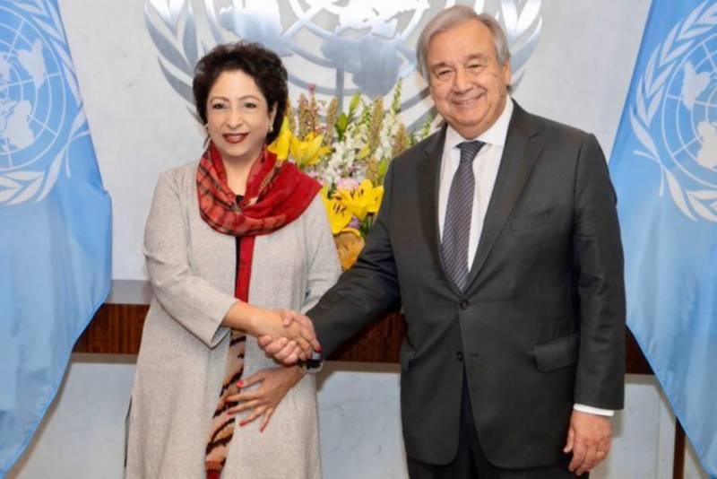 ملیحہ لودھی کی اقوام متحدہ کے سیکریٹری جنرل سے الوداعی ملاقات,کشمیرکی تازہ صورتحال سےآگاہ کیا