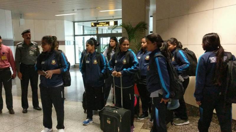 بنگلہ دیش کی ویمن کرکٹ ٹیم لاہور پہنچ گئی