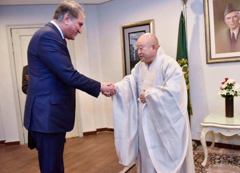 جنوبی کوریا کے بدھ جوگی سلسلے کےوفد کی وزیر خارجہ سے ملاقات