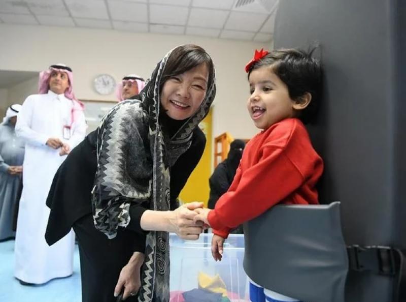جاپانی خاتون اول کا سعودی عرب میں معذور بچوں کی ایسوسی ایشن کا دورہ