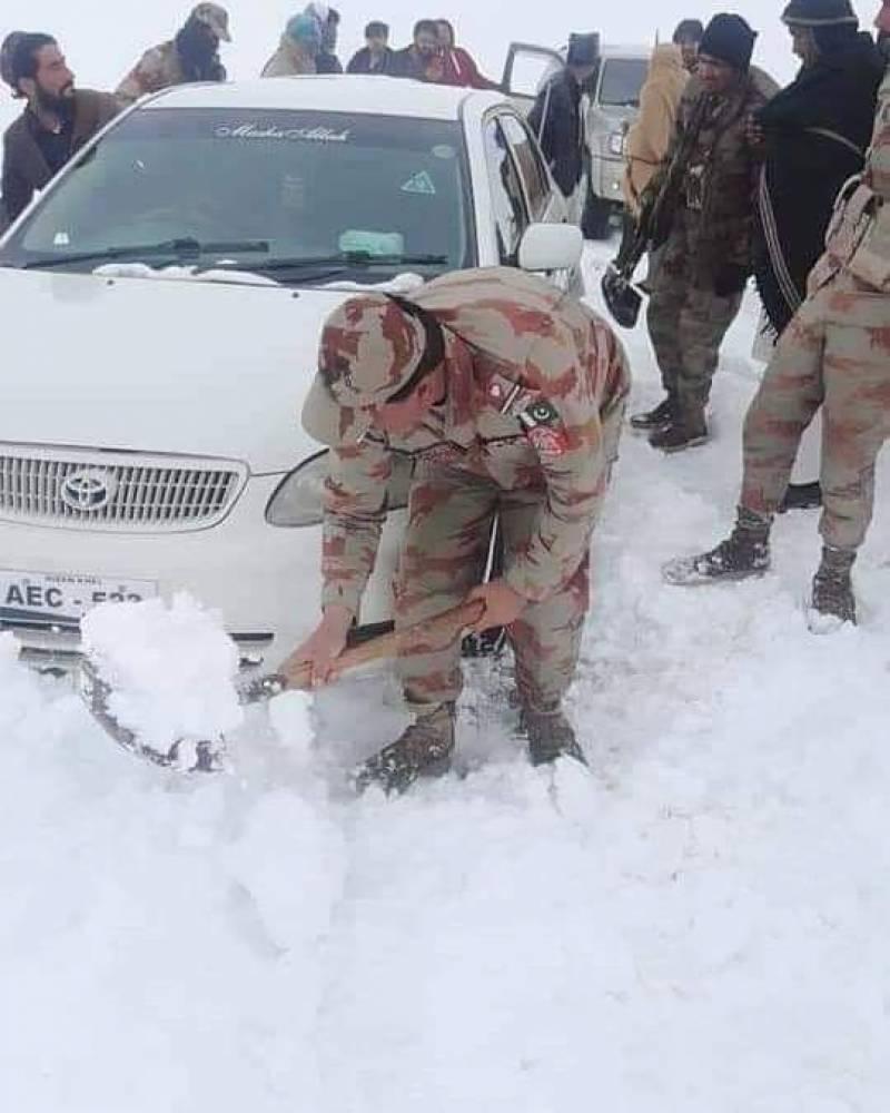 آرمی چیف کا آزاد کشمیر اور بلوچستان میں برفباری سے جانی نقصان پر رنج و غم کا اظہار