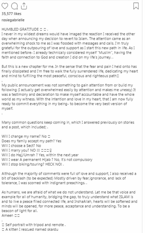 کسی فقہ کی پیروی کروں گی اور نہ ہی اپنا نام تبدیل کرو ںگی:نومسلم کینیڈین سیاحروزی گیبریل