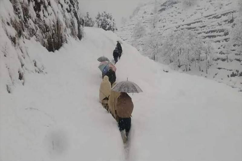 کوہستان شدیدبرف باری کی لپیٹ میں