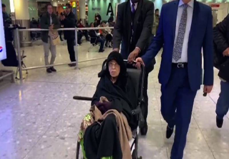 سابق وزیراعظم نواز شریف کی والدہ بیگم شمیم لندن پہنچ گئیں