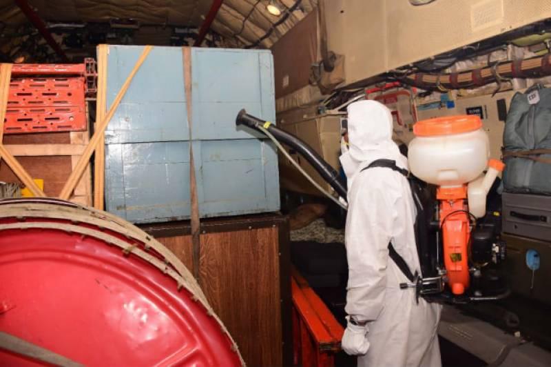 پاک فضائیہ کا 78 IL طیارہ چین سے امدادی سامان لیکر نور خان ایئر بیس پہنچ گیا