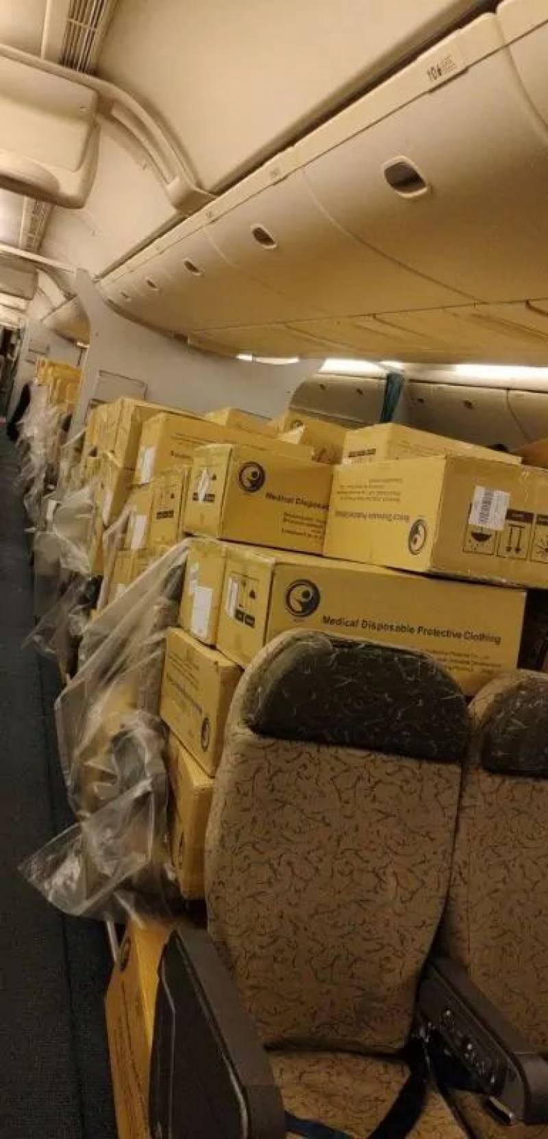 چین سے طبی سامان کی مزید کھیپ پاکستان پہنچ گئی