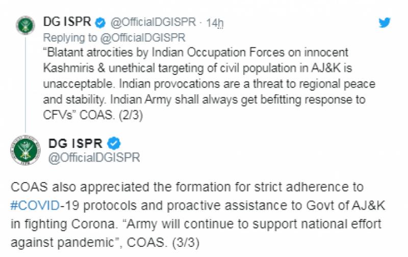 جنگ بندی معاہدے کی خلاف ورزی پر بھارت کو موثر جواب ملنا چاہیے: آرمی چیف