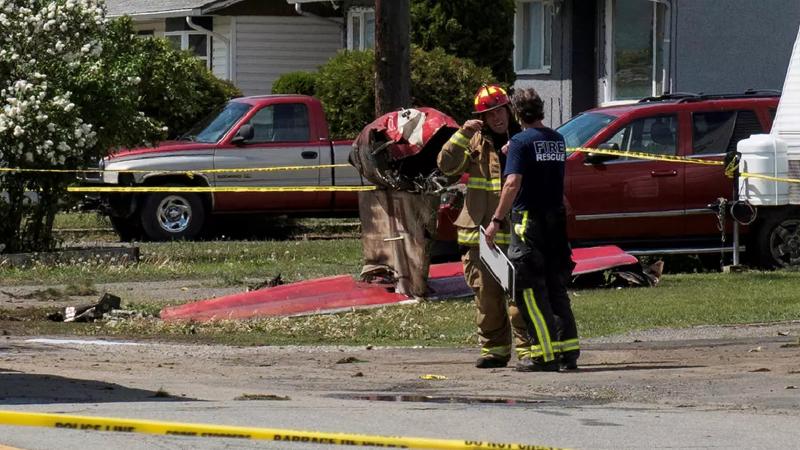 کینیڈا: فوجی طیارہ گر کر تباہ، ایک شخص جاں بحق، دوسرا زخمی