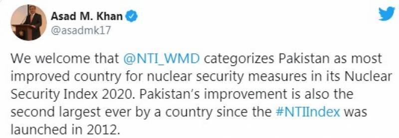 پاکستان جوہری ہتھیاروں کا بہتر تحفظ کرنے والا ملک قرار