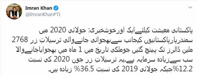 پاکستانی معیشت کیلئے ایک اور خوشخبری آ گئی: وزیر اعظم