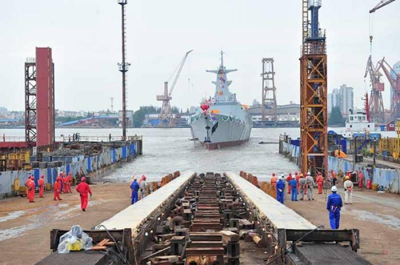 چین میں پاک بحریہ کیلئے تیارکئےجانیوالے فریگیٹ کی افتتاحی تقریب کا انعقاد