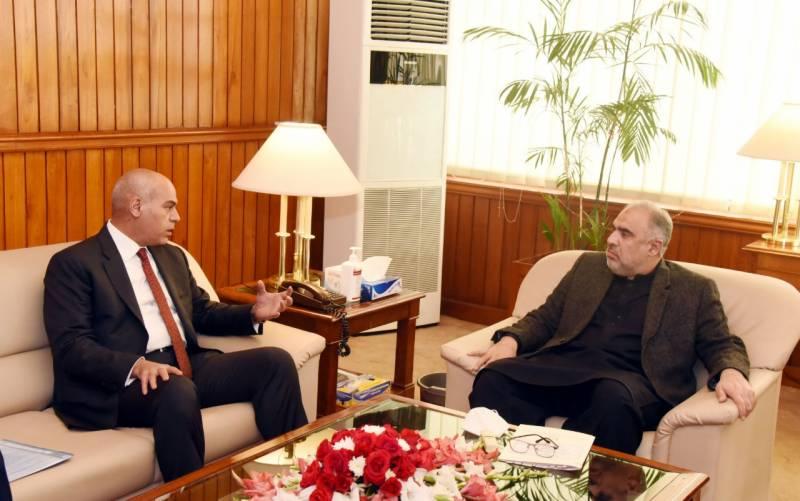 اسپیکر قومی اسمبلی اسد قیصر کی پاکستان میں تعینات اردن کے سفیر میجر جنرل ریٹائرڈ ابراھیم یالا المدنی سے ملاقات