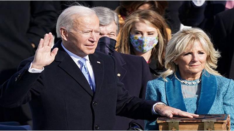 جوبائیڈن نے امریکی صدر کی حیثیت سے حلف اٹھا لیا