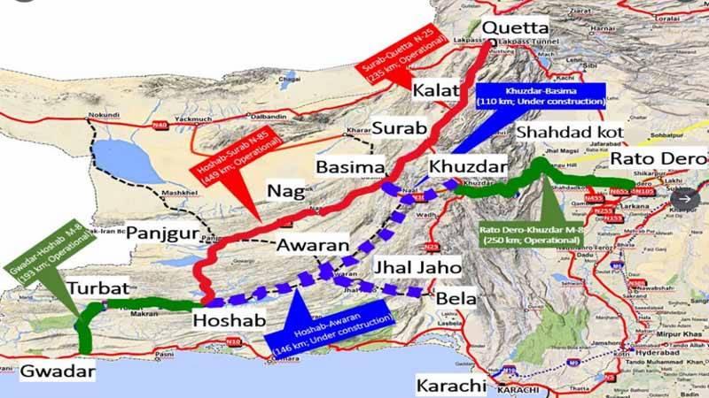 جنوبی بلوچستان میں سی پیک کے تحت سڑکوں پر توجہ مرکوز ہے۔عاصم سلیم باجوہ