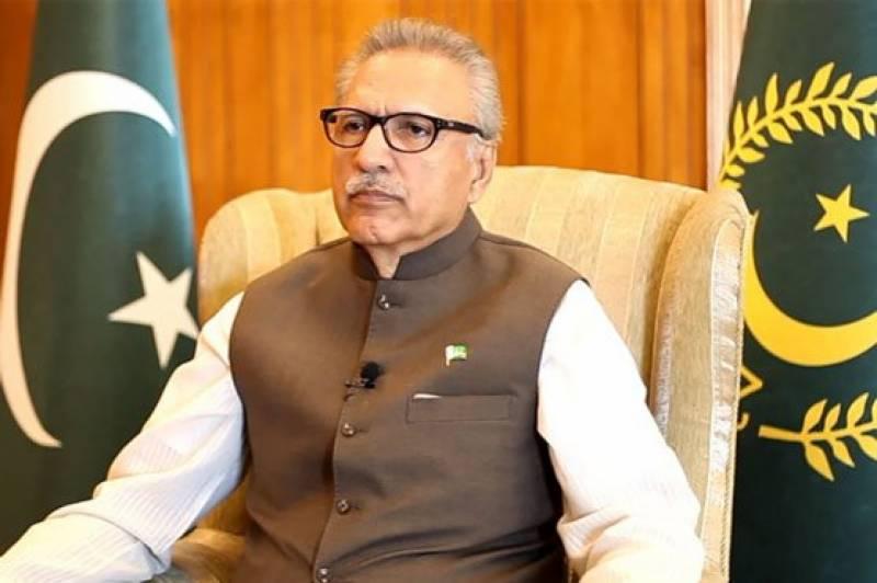 اسرائیلی حملوں کو معمول کی جھڑپیں قرار دینا گھناؤنی بات ہے: صدر پاکستان