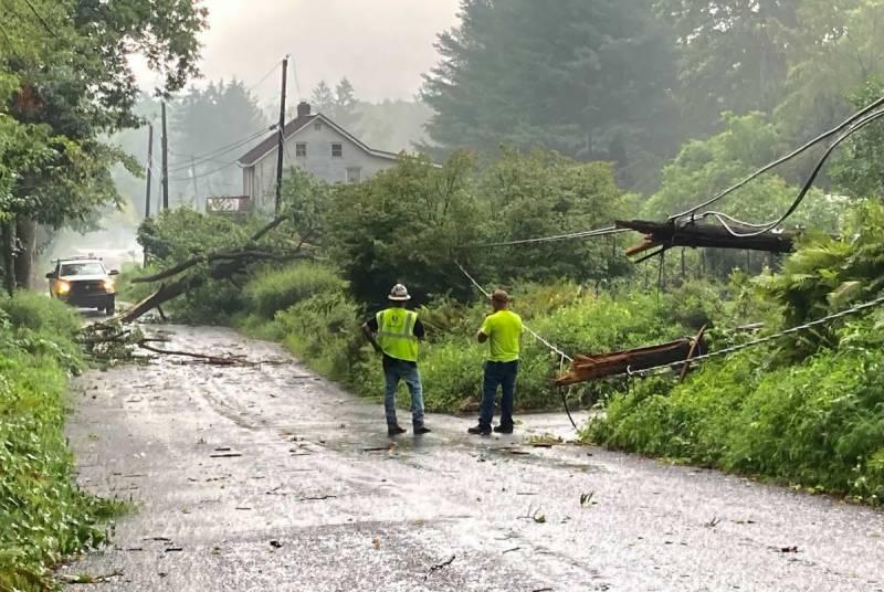 امریکی ریاست پنسلوینیا میں طوفان ، متعدد افراد زخمی