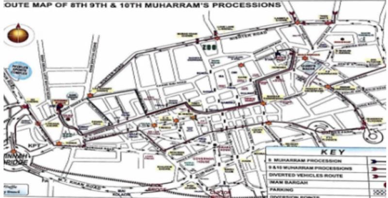 کراچی، 8، 9 اور 10 محرم الحرام کا ٹریفک پلان جاری، شہریوں کو احتیاط کی ہدایت