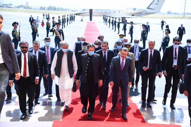 وزیراعظم عمران خان تاجکستان پہنچ گئے