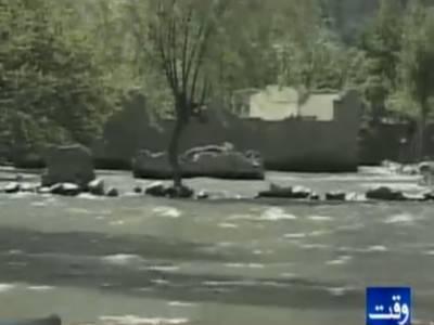 ہنزہ کی عطا آباد جھیل میں پانی کی سطح بلند ہونے کی وجہسے مزید علاقے ڈوب رہے ہیں۔