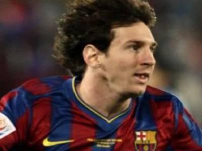 ہسپانوی کلب بارسلونا کے ارجنٹائنی سٹرائیکر لیونل میسینے یورپیئن فٹبال مقابلوں میں سب سے زیادہ گول کرنے پر گولڈن بوٹ ایوارڈ جیت لیا ہے