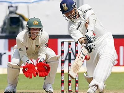 بنگلور ٹیسٹ میں بھارتی بلے بازسچن ٹنڈولکرنے آسٹریلیا کے خلاف پہلی اننگز میں اپنے کیریئرکی چھٹی ڈبلسنچری سکور کر لی
