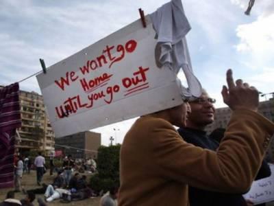 مصر میں صدر حسنی مبارک کے خلاف عوامی احتجاج جاری ، مظاہرین حسنی مبارک کے استعفے تک تحریر سکوائر چھوڑنے کو تیار نہیں۔