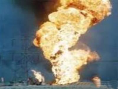 ڈیرہ مراد جمالی، شرپسندوں نے چوبیس قطرانچ کی گیس پائپ لائن کو دھماکہ خیز مواد سے اڑا دیا،بلوچستان کے کئی اضلاع کو گیس کی فراہمی منقطع ہوگئی ۔