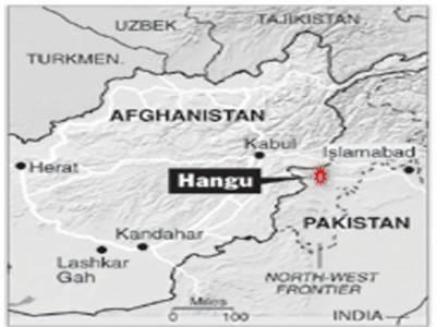 ہنگومیں ریلوے روڈ پرپولیس چوکی کے قریب بم دھماکے کے نتیجے میں تین پولیس اہل کاروں سمیت چھ افراد جاں بحق جبکہ تیس زخمی ہوگئے