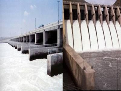 ملک بھر میں بارشوں کے باعث ڈیموں میں پانی کی آمد کا سلسلہ جاری، منگلہ ڈیم میں پانی کی سطح ڈیڈ لیول سے ایک سو اکیاون فٹ بلند ۔