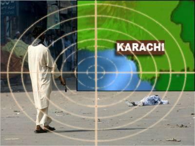 کراچی میں پرتشدد واقعات میں مزید آٹھ افرادزندگی سےہاتھ دھوبیٹھے پہاڑگنج کےعلاقے سےچارٹارگٹ کلرزکو گرفتارکرلیا گیا