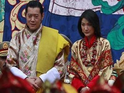 بھوٹان کےبادشاہ کی شادی کی تقریبات کا آغازہوگیا اور اکیس سالہ ملکہ کی تاج پوشی کردی گئی۔