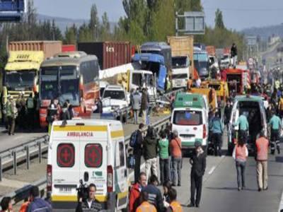 چلی میں دھند کے باعث درجنوں گاڑیاں آپس میں ٹکرا گئیں،جس میں پانچ افراد ہلاک اور پچیس سے زائد زخمی ہوگئے۔