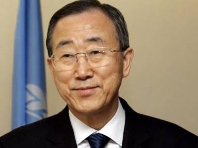 اقوام متحدہ کے سیکرٹری جنرل بان کی مون نے شام میں تشدد کے واقعات کےخلاف سلامتی کونسل کی قرارداد ویٹو ہونے پر افسوس کا اظہار کیا ہے۔
