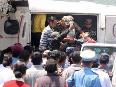 شمالی نیپال کے پہاڑی علاقے میں چھوٹامسافر طیارہ گر کر تباہ ہوگیا، چودہ افراد ہلاک اور پانچ زخمی ۔