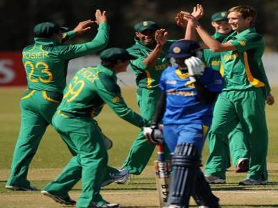 انڈر نائنٹین کرکٹ ورلڈ کپ میں جنوبی افریقہ نے سری لنکا کو چار وکٹوں اور آئرلینڈ نے نیپال کو چودہ رنز سے ہرادیا۔