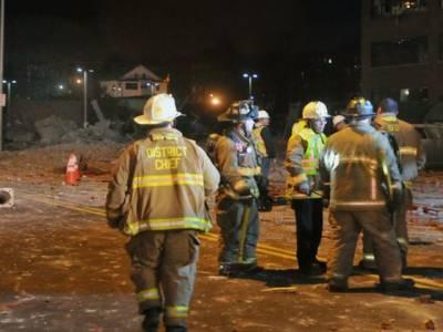 امریکی ریاست میساچوسٹس میں دھماکے سے عمارت تباہ جبکہ آٹھ افراد زخمی ہوگئے