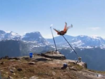 ناروے کا جمپر ہزاروں فٹ بلندی پرفن کامظاہرہ کرتے کھائی میں گرگیا.لیکن خوش قسمتی سےبروقت پیراشوٹ کھلنے سے موت کے منہ میں جانے سے بچ گیا.