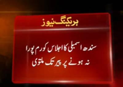 سندھ اسملبی کا اجلاس سپیکر حاضر،ارکان غائب،،شورشرابے سے بھرپوررہنے والی اسمبلی میں آج ہو کاعالم تھا